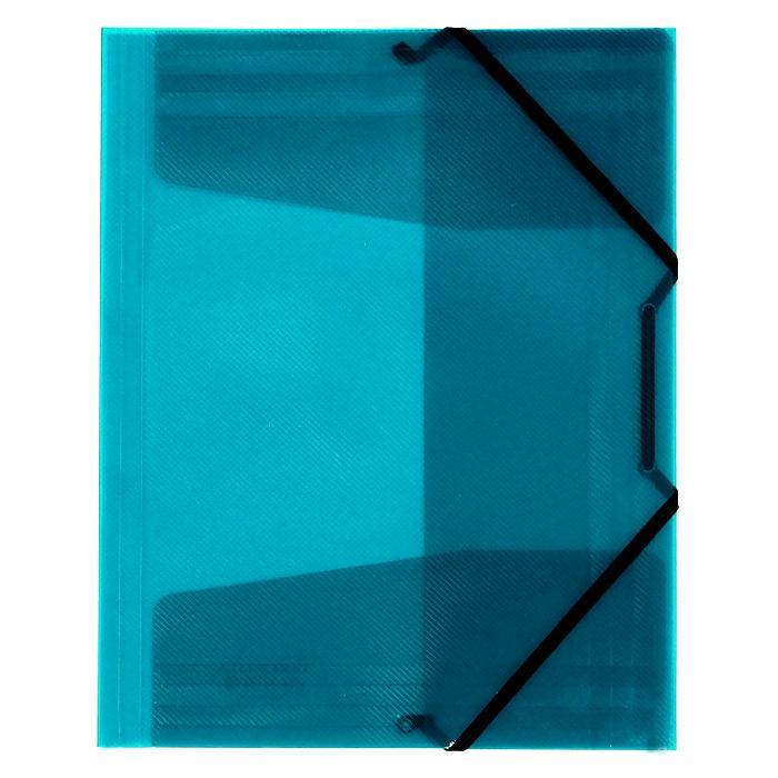 Папка на резинке Erich Krause Diagonal, цвет: бирюзовый14392Папка Erich Krause Diagonal с тремя клапанами - удобный и практичный офисный инструмент, предназначенный для хранения и транспортировки рабочих бумаг и документов формата А4. Папка изготовлена из полупрозрачного глянцевого пластика с рифленой поверхностью и закрывается при помощи угловых резинок. Согнув клапаны по линии биговки, можно легко увеличить объем папки, что позволит вместить большее количество документов. С такой папкой ваши документы всегда будут в полном порядке! Характеристики: Материал: пластик, текстиль. Цвет: бирюзовый. Размер папки: 32 см х 22,5 см x 3,5 см. Изготовитель: Китай.