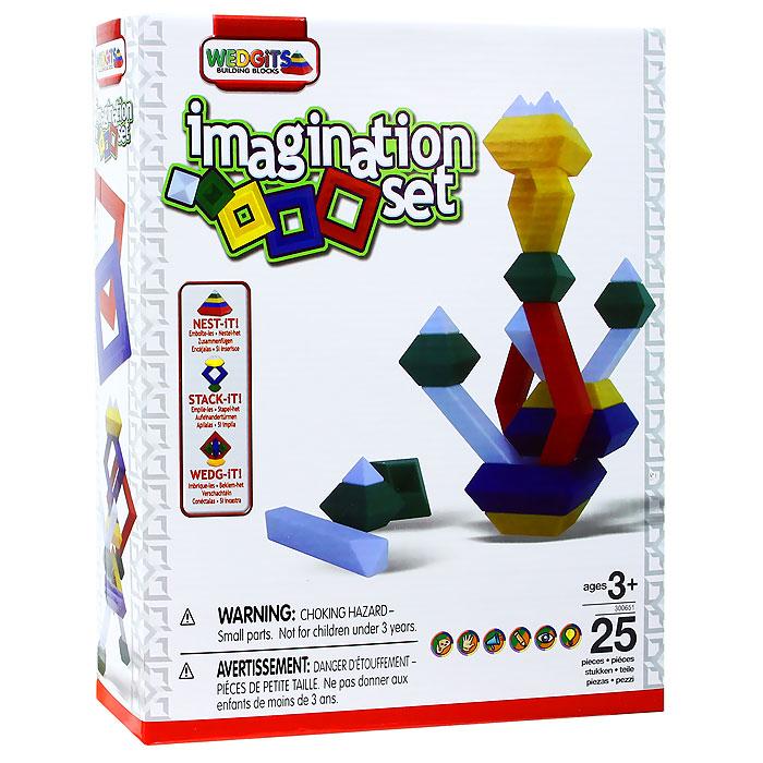 Wedgits Конструктор Imagination Set300651Конструктор Wedgits Imagination Set привлечет внимание вашего ребенка и не позволит ему скучать. Детали конструктора имеют правильную геометрическую форму, идеально стыкуются, ставятся друг на друга, как вертикально, так и горизонтально, тем самым, образуя множество неповторимых комбинаций. В набор входят 25 ярких деталей конструктора и буклет с моделями для сборки. Игры с конструктором помогут вашему ребенку развить мелкую моторику рук, координацию движений, усидчивость, воображение и фантазию. Характеристики: Размер упаковки: 25 см x 30 см x 7 см. Изготовитель: Китай.