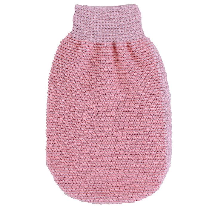 Мочалка-рукавица массажная Riffi, двухсторонняя, цвет: розовый, 22 х 13 см407Мочалка-рукавица Riffi выполнена из хлопка, полиэстера и полиэтилена. Она применяется для мытья тела, обладает активным пилинговым действием, тонизирует, массирует и эффективно очищает вашу кожу. Интенсивный и пощипывающий массаж с применением такой мочалкой усиливает кровообращение и улучшает общее самочувствие. Благодаря отшелушивающему эффекту, кожа освобождается от отмерших клеток, становится гладкой, упругой и свежей. Мочалка-рукавица Riffi приносит приятное расслабление всему организму. Борется с болями и спазмами в мышцах, а также эффективно предупреждает образование целлюлита. Товар сертифицирован.