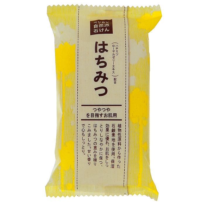 Мыло Pelican с медом, натуральное, твердое, 100 г209838Натуральное твердое мыло Pelican с медом содержит в составе растительные увлажняющие и очищающие компоненты. Экстракт меда в составе мыла мягко ухаживает за кожей, отлично удаляет загрязнения, сохраняет кожу увлажненной и эластичной. Характеристики: Вес: 100 г. Артикул: PE-15. Производитель: Япония. Товар сертифицирован.