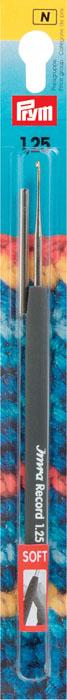 Крючок для вязания Prym, диаметр 1,25 мм175622Крючок для ручного вязания IMRA Record с пластик высокого качества высокого качестваовой ручкой антрацитового цвета и с защитным колпачком №1,25. Материал: Сталь; Диаметр стержня: 2.6 мм.; Цвет: серебристый; Продажная единица: 1шт в блистере. Крючок предназначен для вязания и плетения из ниток, ручного изготовления полотна. Вязание крючком применяют как для изготовления одежды целиком, так и отделочных элементов одежды или украшений. Крючки диаметром 1,5-2,5 мм употребляют для ириса, мулине, гаруса. Правильное соотношение - толщина крючка должна быть почти в два раза больше толщины нитки. Вы сможете вязать для себя, делать подарки друзьям. Рукоделие всегда считалось изысканным, благородным делом. Работа, сделанная своими руками, долго будет радовать Вас и Ваших близких. А подарок, выполненный собственноручно, станет самым ценным для друзей и знакомых.