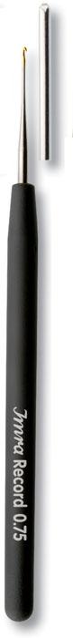 Крючок для ручного вязания Prym Imra, с направляющей площадью № 0,75175624Крючок для вязания с направляющей площадью Prym Imra выполнен из стали, а ручка из пластика высокого качества цвета антрацита. Он оснащен защитным колпачком. Крючок предназначен для ручного вязания тонкой пряжей.