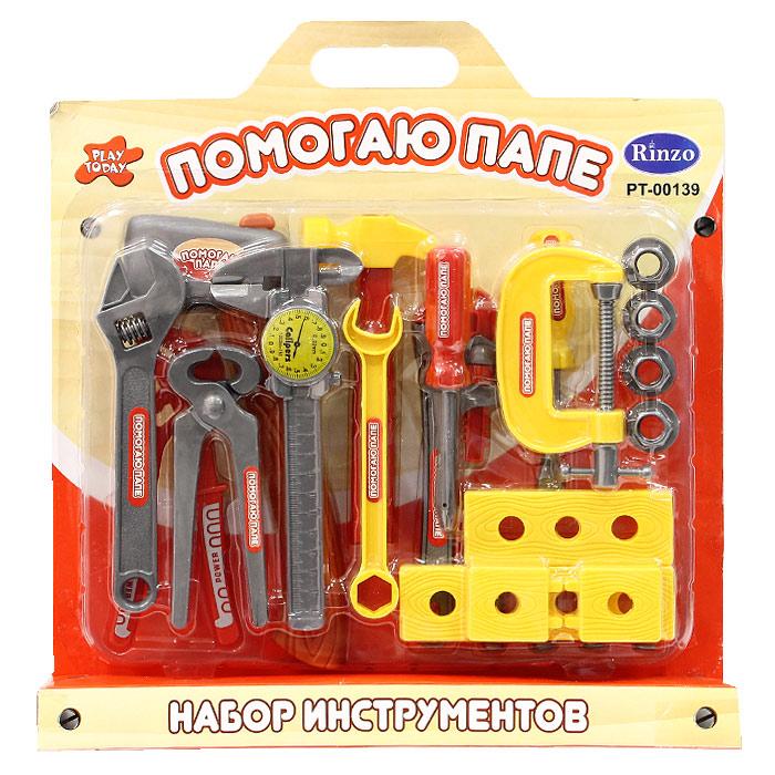 Набор инструментов Помогаю папе, 23 предметаPT-00139 (0713Q-1)Набор инструментов Помогаю папе, выполненных из пластика, непременно понравится юному строителю. Набор состоит 23 предметов, являющихся копиями реальных инструментов. Набор инструментов Помогаю папе отлично подойдет для ролевых игр ребенка, как в помещении, так и на свежем воздухе. Характеристики: Средняя длина инструмента: 15 см. Размер упаковки: 35 см x 37 см x 5 см.