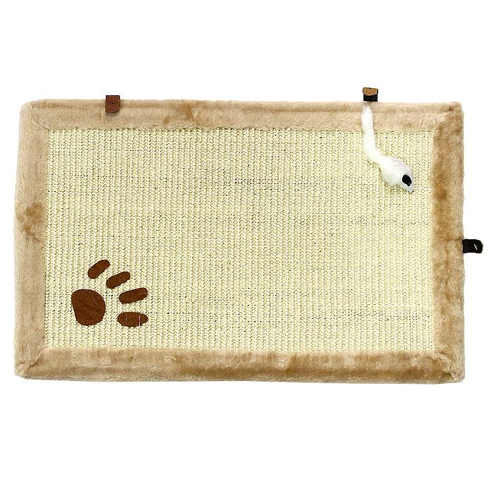 Коврик-когтеточка для кошек Гамма, 55,5 см х 35,5 смКк-05920Когтеточка для кошек Гамма выполнена из сизаля в виде коврика, по краям обитого плюшем. Коврик декорирован следом от лапки и белой мышкой. К когтеточке прилагаются крепления. Всем кошкам необходимо стачивать когти. Когтеточка - один из самых необходимых аксессуаров для кошки. Для приучения к когтеточке можно натереть ее сухой валерьянкой или кошачьей мятой. Коврик-когтеточка для кошек Гамма станет комфортным и любимым местом вашего питомца. Размер: 55,5 см х 35,5 см. Товар сертифицирован.