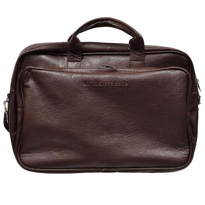 Сумка дорожная Antan, цвет: темно-коричневый. 2-174 А3203450Вместительная дорожная сумка Antan выполнена из искусственной кожи темно-коричневого цвета. Внутри сумка состоит из одного отделения, содержащего два накладных сетчатых кармана. Сумка закрывается на застежку-молнию. На лицевой стороне сумки - объемный накладной карман на застежке-молнии. На задней стенке расположен дополнительный карман на застежке-молнии. Сумка оснащена двумя удобными прочными ручками и съемным плечевым ремнем. Характеристики: Цвет: темно-коричневый. Материал: искусственная кожа, текстиль, металл. Размер сумки: 48 см x 32 см х 19 см. Артикул: 2-174 А. Производитель: Россия. Компания Antan существует уже более 10 лет. Свою деятельность она начинала с выпуска дамских сумок, сейчас в ассортименте представлен большой выбор молодежных, дорожно-спортивных, деловых, универсальных сумок, а так же клатчей и маленьких сумочек. Мир моды не стоит на месте, и, следуя...