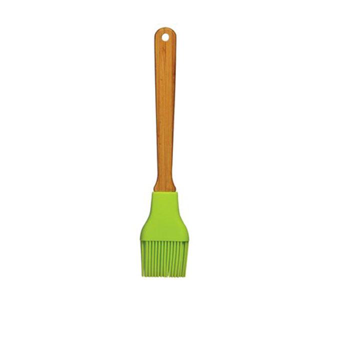 Кисточка для соуса Premier, цвет: зеленая. 08049700804970Кисточка для соуса Premier выполнена из силикона зеленого цвета. Удобная кисточка займет достойное место среди аксессуаров на вашей кухне. Оригинальный дизайн и качество исполнения не оставят равнодушными ни тех, кто любит готовить, ни опытных профессионалов-поваров. Эта кисточка поможет равномерно нанести маринад или соус на ваши блюда. Очень удобная ручка из бамбука не позволит выскользнуть кисточке из вашей руки, а благодаря небольшому отверстию на ручке можно подвесить изделие на кухне. Можно мыть в посудомоечной машине. Характеристики: Материал: силикон, бамбук. Длина: 25.5 см. Ширина: 5 см. Изготовитель: Великобритания. Артикул: 0804970.
