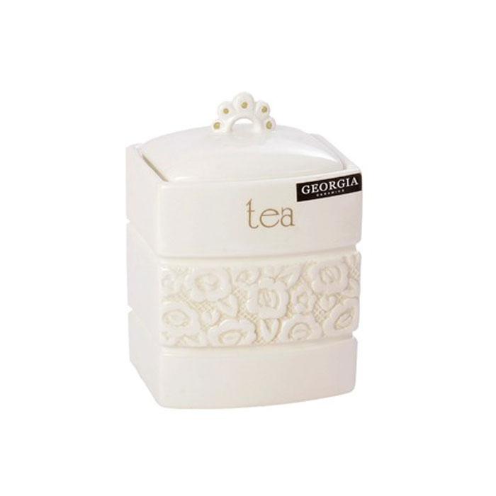 Банка для чая Georgia Tea 11,5 х 10,5 х 12,5 см 7218550721855Малая банка Georgia, выполненная из керамики и оформленная оригинальным выпуклым рисунком и надписью Tea, станет незаменимым помощником на кухне. В ней будет удобно хранить чай. Емкость легко закрывается крышкой, которая снабжена резиновым кольцом-уплотнителем для лучшей фиксации. Оригинальный дизайн позволит сделать такую емкость отличным подарком на любой праздник. Характеристики: Материал: керамика, резина. Размер банки (без учета крышки): 11,5 см х 10,5 см х 12,5 см. Размер упаковки: 12 см х 11,5 см х 16 см. Производитель: Великобритания. Артикул: 0721855.