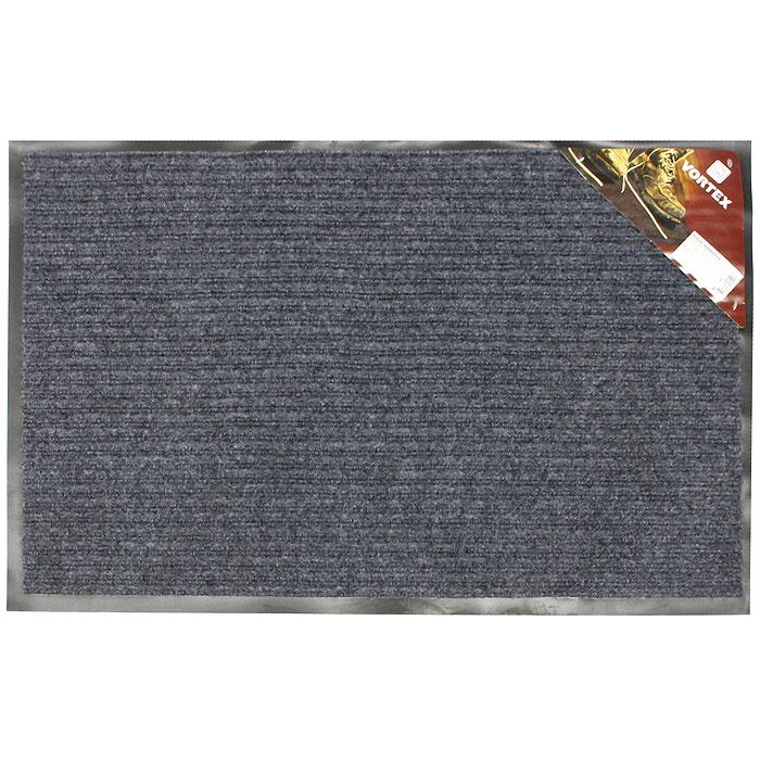 """Коврик придверный """"Vortex"""", влаговпитывающий, цвет: серый, 50 х 80 см"""