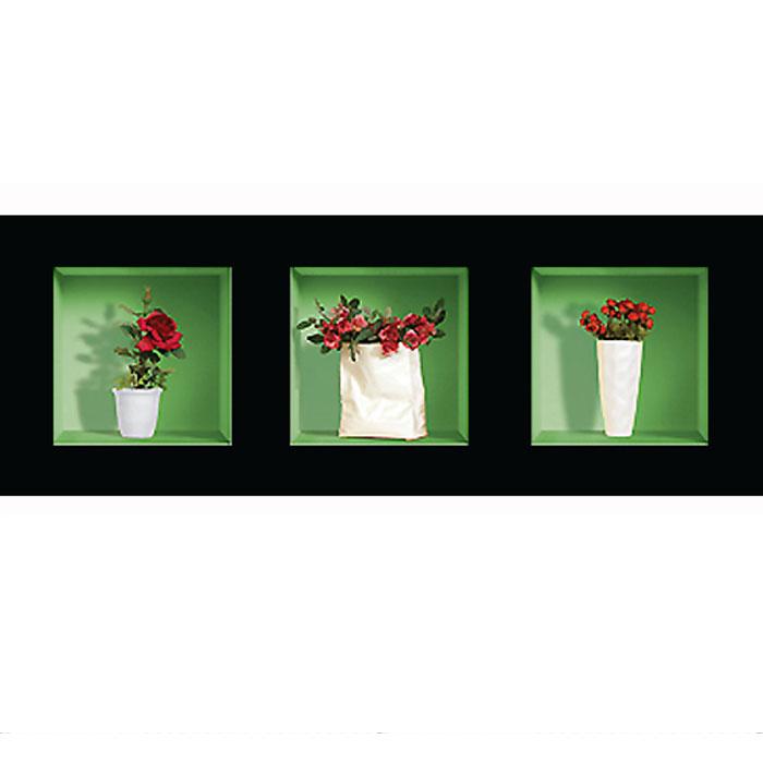 Украшение для стен и предметов интерьера с 3D эффектом Букеты роз №2SKU-786Декоративные наклейки на стену Nisha - это прекрасный способ обновить интерьер в гостиной, детской комнате, спальне, столовой или офисных помещениях. 3D наклейки создают иллюзию ниши с расставленными в них игрушками, цветами, вазами или статуэтками и придают помещению уникальный дизайн. Добавьте новых красок в монотонность будней! Уникальный дизайн с элементами оптической иллюзии создается на основе обычных фотографий. Для достижения трехмерного эффекта объекты «помещают» внутрь ниш с помощью специального программного обеспечения. В наклейках использован эффект света внутри ниши, это позволяет зрительно расширить помещение, не прибегая к использованию осветительных приборов. Наклейки можно использовать на следующих поверхностях: обои, окрашенные стены, стекло, дерево, пластик и др. Главное требование - поверхность обязательно должна быть ровной. Использование на обоях с фактурной поверхностью возможно только с применением дополнительных склеивающих...