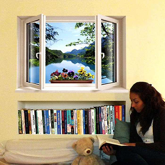 Украшение для стен и предметов интерьера с 3D эффектом Window Лесное озероSKU-892Декоративные наклейки на стену Nisha - это прекрасный способ обновить интерьер в гостиной, детской комнате, спальне, столовой или офисных помещениях. Уникальный дизайн с элементами оптической иллюзии создается на основе обычных фотографий. Для достижения трехмерного эффекта объекты «помещают» внутрь ниш с помощью специального программного обеспечения. Наклейки можно использовать на следующих поверхностях: обои, окрашенные стены, стекло, дерево, пластик и др. Главное требование - поверхность обязательно должна быть ровной. Использование на обоях с фактурной поверхностью возможно только с применением дополнительных склеивающих средств. Рекомендации по выбору стены: - Для получения максимального эффекта лучше всего выбрать стену, которая будет просматриваться с расстояния не менее 3 м. - Поверхность должна быть гладкой, сухой и чистой от загрязнений и пыли. - В случае если вы наклеиваете несколько наклеек рядом, то расстояние между ними должно быть...
