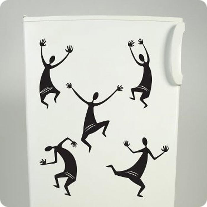 Стикер Африканские танцы, цвет: черный, 81 х 70 смПР01136Оригинальный стикер Африканские танцы выполнен из матового винила - тонкого эластичного материала, который хорошо прилегает к любым гладким и чистым поверхностям, легко моется и держится до семи лет, не оставляя следов. Изображение на стикере выполнено в виде черных танцующих человечков. Великолепное исполнение добавит изысканности в дизайн вашего дома. Сегодня виниловые наклейки пользуются большой популярностью среди декораторов по всему миру, а на российском рынке товаров для декорирования интерьеров являются новинкой. Необыкновенный всплеск эмоций в дизайнерском решении создаст утонченную и изысканную атмосферу не только спальни, гостиной или детской комнаты, но и даже офиса.