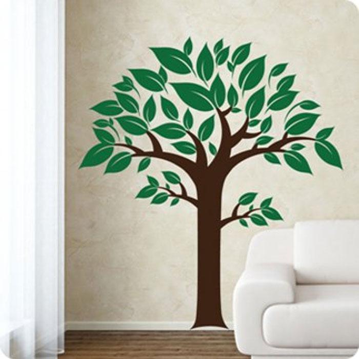 """Стикер Paristic """"Дерево 02"""", цвет: коричневый, зеленый, 150 см х 138 см"""