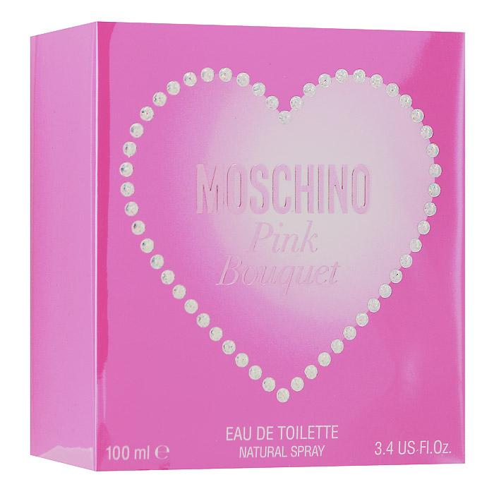 Moschino Pink Bouquet. Туалетная вода, 100 мл6L32Moschino Pink Bouquet - драйв, молодость, энергия, нежность, романтика и гламур - все это перемешалось в аромате Pink Bouquet, чтобы его обладательница могла воскликнуть - Я молода! Я великолепна! И весь этот мир создан только для меня. Создателем Moschino Pink Bouquet стал известный французский парфюмер Оливье Пешо (Olivier Pescheux). Классификация аромата : фруктовый, цветочный. Пирамида аромата : Верхние ноты: бергамот, ананас, малина. Ноты сердца: жасмин, ландыш, пион, фиалка. Ноты шлейфа: мускус, пряник, дубовый мох, персик. Ключевые слова Нежный, романтичный, сладкий, кокетливый!