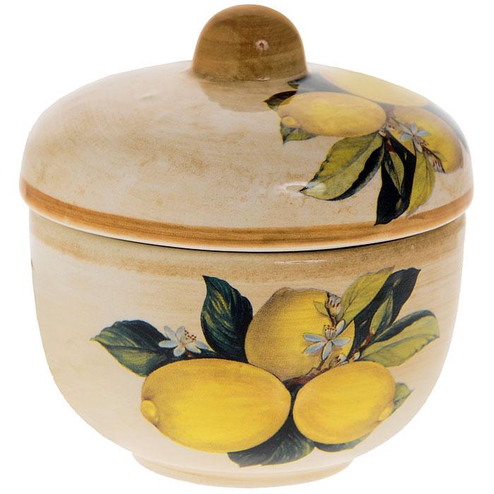 Сахарница Итальянские лимоны, 250 млLCS900G-CL-ALСахарница Итальянские лимоны изготовлена из высококачественной керамики. Рисунок в виде лимонов на бежевом фоне выглядит особенно привлекательно. Такая сахарница непременно украсит ваш стол.
