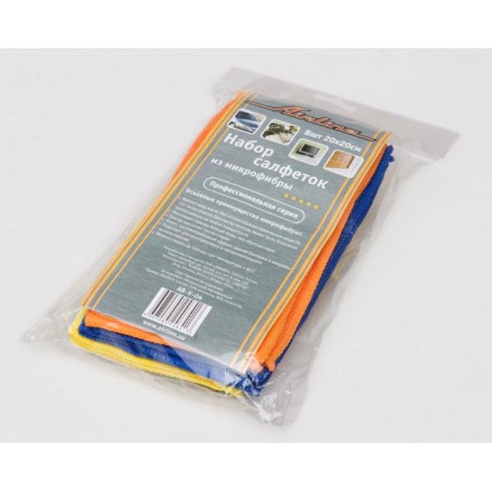 Набор салфеток Airline из микрофибры, 20 см х 20 см, 8 штAB-V-04В набор Airline входит 8 салфеток, выполненных из микрофибры. Салфетки великолепно удаляют пыль и грязь с любых поверхностей. Могут использоваться не только для мытья, но и для полировки различных поверхностей. Особенности салфеток из микрофибры: - очистка от жиров без химикатов; - не оставляют царапин; - высокое влагопоглощение; - быстро сохнут после стирки; - удаляют микробы и грибки; - не теряют свойств после стирки. Характеристики: Материал: микрофибра. Размер: 20 см х 20 см. Комплектация: 8 шт. Артикул: AB-V-04. УВАЖАЕМЫЕ КЛИЕНТЫ! Обращаем ваше внимание на возможные изменения в дизайне упаковки. Поставка осуществляется в зависимости от наличия на складе. Комплектация осталась без изменений.