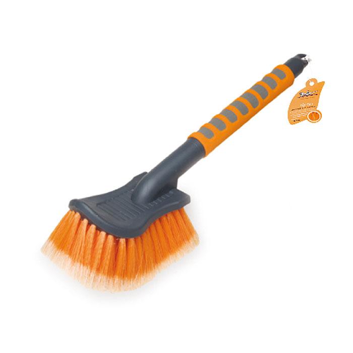 Щетка для мытья Airline с мягкой щетиной, 40 смAB-I-04Щетка для мытья Airline с особо мягкой распушенной щетиной для бережной мойки. Щетина из высокоупругого полимера для длительной эксплуатации. Прочный корпус, рукоятка с мягким эргономичным нескользящим покрытием.