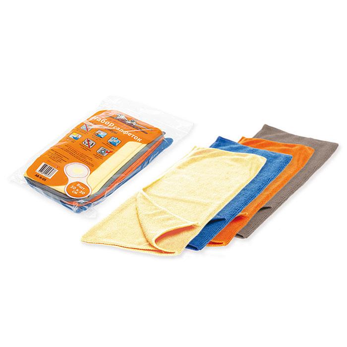 Набор салфеток для уборки Airline, 30 х 30 см, 8 шт. AB-V-05AB-V-05Салфетки Airline из микрофибры великолепно удаляют пыль и грязь с любых поверхностей. Могут использоваться не только для мытья, но и для полировки различных поверхностей. Впитывают гораздо больше воды, чем обычная ткань. Характеристики: Материал: 20% полиамид, 80% полиэстер. Размер салфетки: 30 см х 30 см. Комплектация: 8 шт. Артикул: AB-V-05.