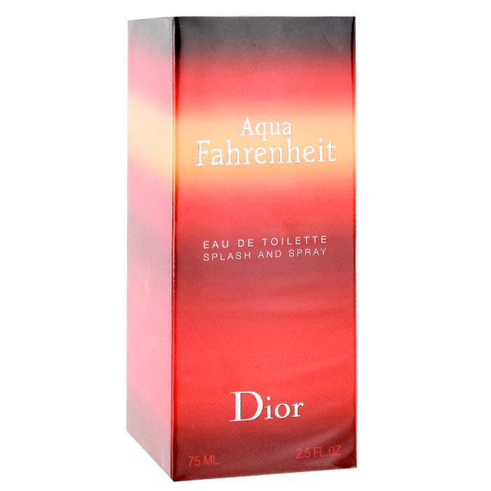 "Christian Dior ""Fahrenheit Aqua"". Туалетная вода, мужская, 75 мл"