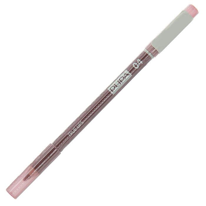 PUPA Карандаш для губ с аппликатором True Lips Pencil, тон 04 какао , 1.2 г025604Контурный карандаш для губ Pupa True Lips с аппликатором для тушевки завершает макияж и позволяет достичь необыкновенного результата. Наносит равномерную линию, придающую безупречный контур губам, благодаря своей возможности удерживать помаду. Практичный аппликатор из латекса удобен для растушевки цвета на поверхности губ. Подходит для профессионального использования.