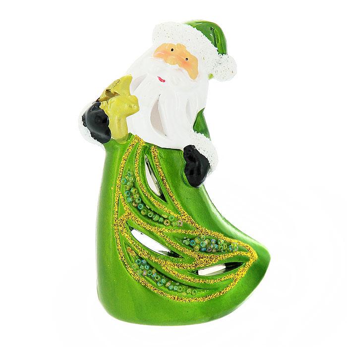 """Феникс-презент Новогодний подсвечник """"Дед Мороз"""", цвет: зеленый"""