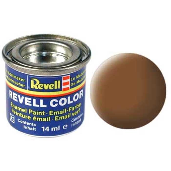 Revell Краска для моделей матовая №82 цвет темная земля 14 мл32182Матовая краска Revell цвета темной земли пригодится для нанесения надписей или тонирования других красок, с целью придания им более темных неярких оттенков. Также краску можно использовать в качестве базового оттенка, но в этом случае нанесение будет гораздо удобнее, если использовать аэрограф, а не кисточку. Краска упакована в экономичную банку, что позволяет экономно ее расходовать, а после использования банку можно закрыть крышкой, чтобы избежать высыхания.
