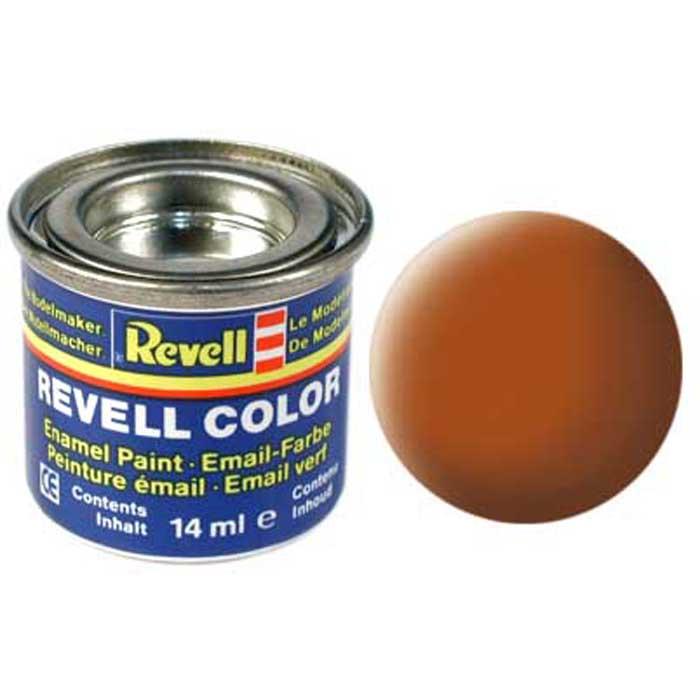 Revell Краска для моделей матовая №85 цвет коричневый 14 мл32185/РАЛ 8023Матовая краска Revell коричневого цвета используется для окрашивания сборных моделей. Чтобы краска ложилась ровным слоем, необходимо наносить ее на чистую сухую поверхность. Краска упакована в экономичную банку, что позволяет экономично ее расходовать, а после использования банку можно закрыть крышкой, чтобы избежать высыхания.