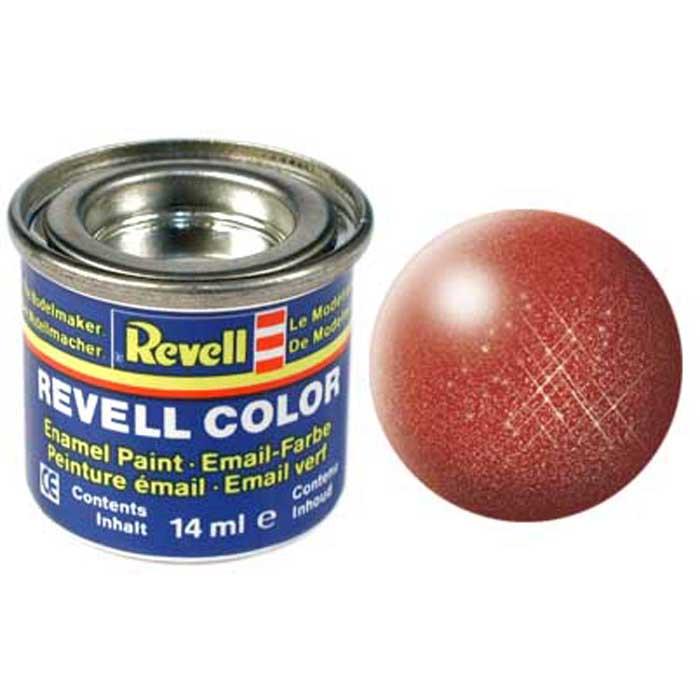 Revell Краска для моделей №95 цвет бронзовый металлик 14 мл32195Краска Revell цвета бронзовый металлик придаст готовому пластиковому изделию настоящий бронзовый блеск, вследствие чего любая сборная модель будет выглядеть практически как из настоящего металла. Краска легко наносится, с помощью кисточки или аэрографа, и уже через несколько часов окрашиваемая поверхность становится сухой. Также краска может быть использована для дальнейшего оформления, в виде нанесения узоров или надписей. Краска упакована в экономичную банку, что позволяет экономно ее расходовать, а после использования банку можно закрыть крышкой, чтобы избежать высыхания.
