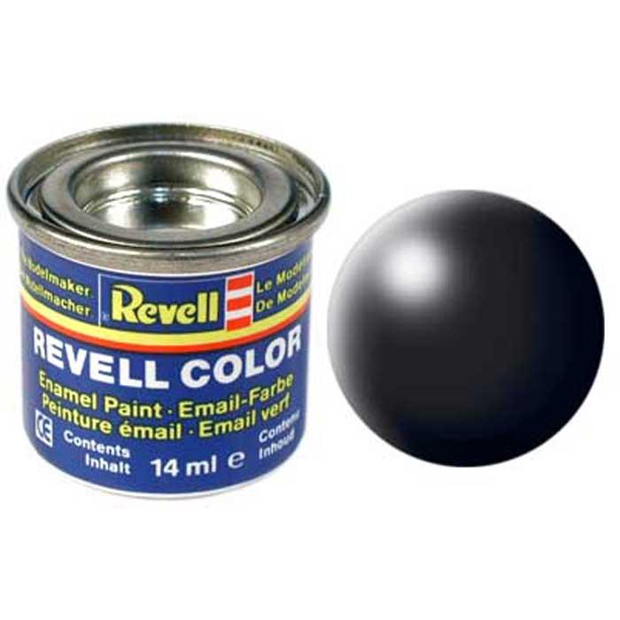Revell Краска для моделей шелково-матовая №302 цвет черный 14 мл32302/РАЛ 9005Краска-эмаль Revell идеально подойдет для окрашивания масштабных сборных моделей. Данная синтетическая смоляная эмаль не повреждает поверхности моделей, изготовленных из пластика. Различные оттенки эмали могут смешиваться между собой для получения необходимого тона при помощи разбавителя Revell Color Mix.