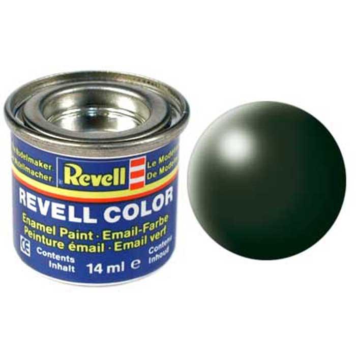 Revell Краска для моделей шелково-матовая цвет темно-зеленый 14 мл