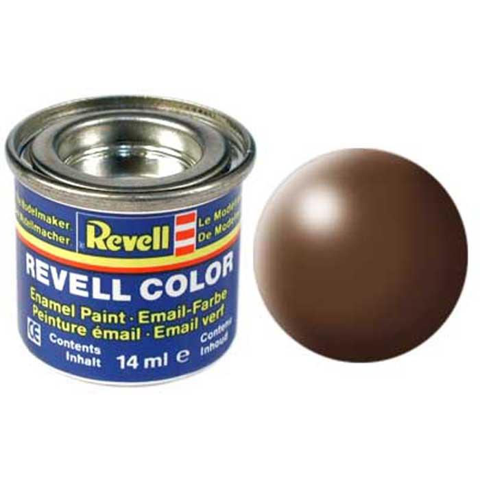 Revell Краска для моделей шелково-матовая №381 цвет коричневый 14 мл32381/РАЛ 8025Краска-эмаль Revell идеально подойдет для окрашивания масштабных сборных моделей. Данная синтетическая смоляная эмаль не повреждает поверхности моделей, изготовленных из пластика. Различные оттенки эмали могут смешиваться между собой для получения необходимого тона при помощи разбавителя Revell Color Mix.