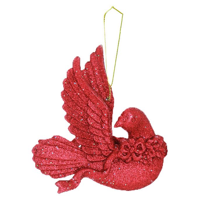 Подвесное украшение Голубка, цвет: красныйФ21-1639Изящное подвесное украшение Голубка, покрытое мелкими красными блестками, принесет в ваш дом ощущение радости и праздничное настроение. Украшение можно подвесить на шторы, тюль, люстру или использовать как елочную игрушку.