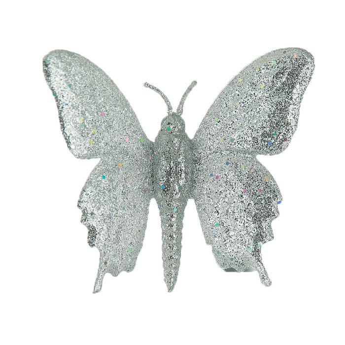 Новогоднее подвесное украшение Бабочка. Ф21-1643Ф21-1643Новогоднее украшение Бабочка отлично подойдет для декорации вашего дома и новогодней ели. Украшение выполнено из пластика в виде бабочки, украшенного серебристыми блестками. Имеет пластиковый зажим. Елочная игрушка - символ Нового года. Она несет в себе волшебство и красоту праздника. Создайте в своем доме атмосферу веселья и радости, украшая всей семьей новогоднюю елку нарядными игрушками, которые будут из года в год накапливать теплоту воспоминаний.