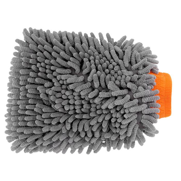 Варежка Шиншилла для мытья автомобиля, цвет: серый. AB-D-01