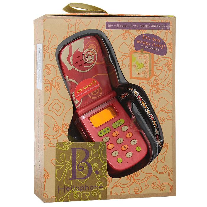 Телефон мобильный Hellophone для детей, цвет: красный68615Детский мобильный телефон Hellophone привлечет внимание вашего ребенка и не позволит ему скучать. Игрушка выполнена из пластика в виде телефона-раскладушки со множеством функций. Сбоку на телефоне расположена кнопка записи, при нажатии и удерживании которой можно записать сообщение. Чтобы прослушать записанное сообщение, необходимо нажать кнопку Play. Кнопки с цифрами от ноля до девяти при нажатии издают звуки, как настоящий телефон. При нажатии на кнопки с изображением звездочки и решетки, играют приятные мелодии. Если крышка телефона закрыта, то через некоторое время он начнет звонить. Стоит только взять трубку и можно услышать записанное сообщение, звук набора номера или гудки. К телефону крепится текстильный шнурок в форме петельки. Порадуйте своего ребенка таким замечательным подарком!
