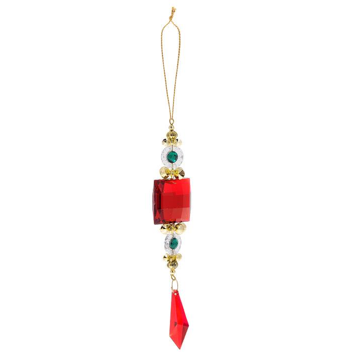Новогоднее подвесное украшение Подвеска. 2578225782Яркое новогоднее украшение, переливающееся разноцветными огнями, поможет в декорации вашего дома или новогодней ели. Выполнено из легкого пластика в виде подвески с большим красным камнем. Благодаря плотному корпусу изделие никогда не разобьется, поэтому вы можете быть уверены, что оно прослужит вам долгие годы. Елочная игрушка - символ Нового года. Она несет в себе волшебство и красоту праздника. Создайте в своем доме атмосферу веселья и радости, украшая всей семьей новогоднюю елку нарядными игрушками, которые будут из года в год накапливать теплоту воспоминаний.