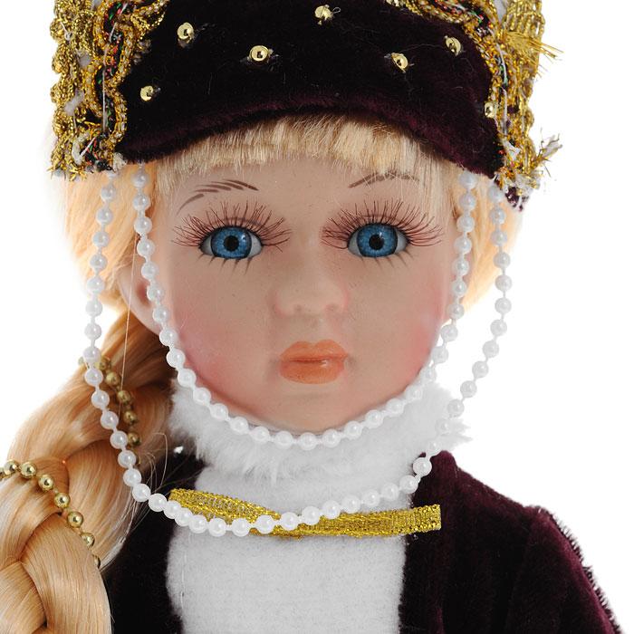 Декоративная керамическая кукла, на подставке, 31 см. Ф 21-2172