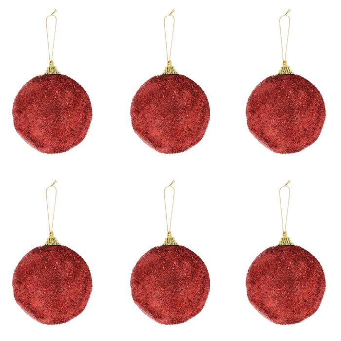 Набор подвесных новогодних украшений Christmas, цвет: красный. 7151371513Набор подвесных украшений Christmas украсит новогоднюю елку и создаст теплую и уютную атмосферу праздника. В набор входят шесть блестящих украшений. Елочная игрушка - символ Нового года. Она несет в себе волшебство и красоту праздника. Создайте в своем доме атмосферу веселья и радости, украшая всей семьей новогоднюю елку нарядными игрушками, которые будут из года в год накапливать теплоту воспоминаний. Характеристики: Материал: пластик. Размер украшения: 8,5 см х 8,5 см х 9 см. Размер упаковки: 26 см х 17 см х 8 см. Артикул: 71513.