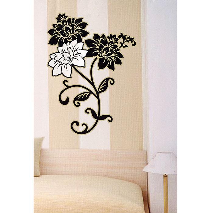 Декоративное настенное украшение Цветы, 33,5 см х 52 см. 2663226632Декоративное настенное украшение Цветы поможет украсить дом и внести оригиналный штрих в интерьер. Цветочный орнамент нанесен на прозрачную пленку. С помощью такого украшения вы сможете оживить интерьер по своему вкусу.