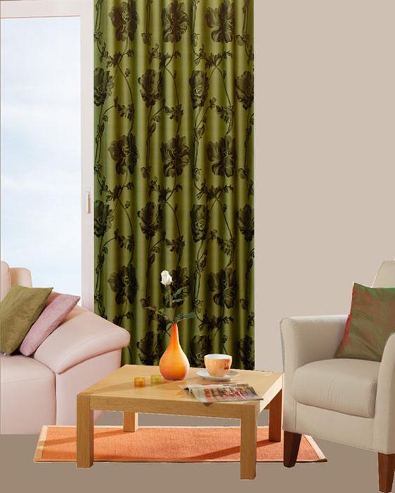 Гардина Schaefer на петлях, цвет: зеленый, 140 х 245 см06471-596Гардина Schaefer выполнена из полиэстера зеленого цвета с рисунком в виде крупных черных цветов. В верхнюю часть гардины вшиты специальные петли. Для подвешивания гардины достаточно лишь продеть в них карниз. Гардина прекрасно подойдет для подвешивания на настенный карниз. Оригинальное оформление гардины внесет разнообразие и подарит заряд положительного настроения. Характеристики: Материал: 100% полиэстер. Размер гардины (Ш х В): 140 см х 245 см. Цвет: зеленый. Ширина петли: 4,5 см. Длина петли: 9,5 см. Артикул: 06471-596. Немецкая компания Schaefer создана в 1921 году. На протяжении всего времени существования она создает уникальные коллекции домашнего текстиля для гостиных, спален, кухонь и ванных комнат. Дизайнерские идеи немецких художников компании Schaefer воплощаются в текстильных изделиях, которые сделают ваш дом красивее и уютнее и не останутся незамеченными вашими гостями. Дарите себе и близким красоту каждый день!