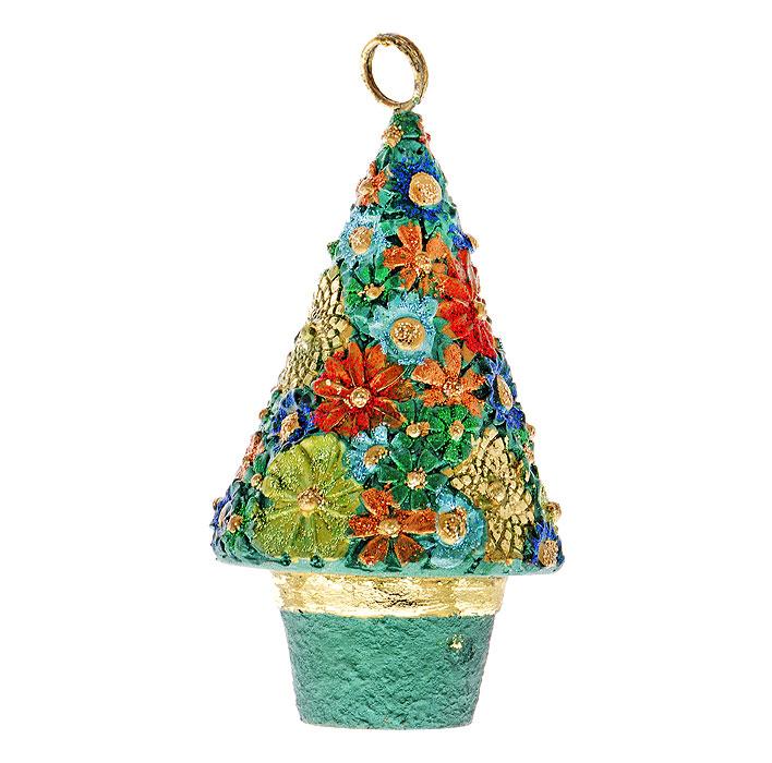 Новогоднее подвесное украшение Елка. 2542125421Новогоднее украшение Елка отлично подойдет для декорации вашего дома и новогодней ели. Украшение выполнено из пластика в виде елочки, украшенной блестками. Елочная игрушка - символ Нового года. Она несет в себе волшебство и красоту праздника. Создайте в своем доме атмосферу веселья и радости, украшая всей семьей новогоднюю елку нарядными игрушками, которые будут из года в год накапливать теплоту воспоминаний. Характеристики: Материал: пластик. Размер: 10 см х 6 см х 5,5 см. Изготовитель: Китай. Артикул: 25421.