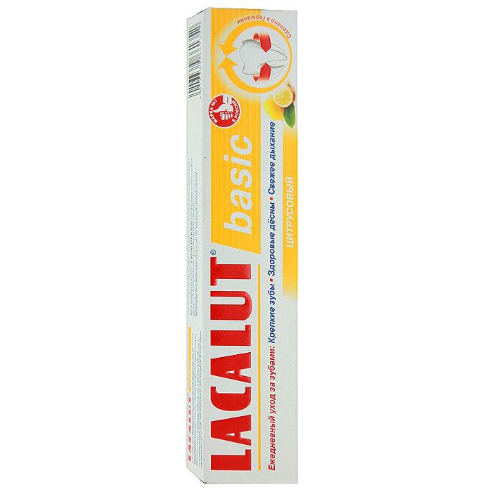 Lacalut Зубная паста Basic, цитрусовый вкус, 75 мл159800834Зубная паста Lacalut Basic - профилактическая зубная паста для ежедневной гигиены полости рта. Содержит экстракт куркумы и лактат алюминия, обладающие вяжущим и кровоостанавливающим эффектом. Защищает десны от кровоточивости и воспаления. Убивает бактерии - причину кариеса и неприятный запах. Характеристики: Объем: 75 мл. Производитель: Германия. Артикул: 15980083. Товар сертифицирован.