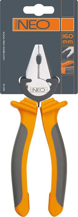 Плоскогубцы Neo, 160 мм01-010Плоскогубцы Neo изготовлены из хром ванадиевой стали. Они предназначены для захвата, зажима и удержания мелких деталей. Имеют эргономичные ручки.