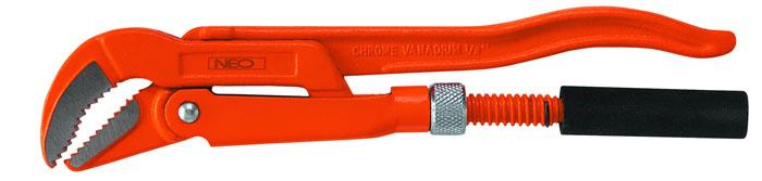 Ключ трубный Neo, 45 градусов, 0,502-125Ключ трубный Neo используется для монтажа и демонтажа у трубных резьбовых соединений. Ключ эффективен в работе благодаря его специальной усиленной конструкции. Специально разработанный угол наклона зубцов позволяет выполнить максимально возможное усилие захвата.