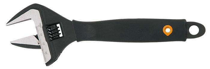 Ключ разводной Neo, 200 мм, 0-38 мм03-014Ключ разводной Neo предназначен для отвинчивания и завинчивания гаек, болтов, винтов и других резьбовых соединений, при выполнении различных слесарно-монтажных работ. Ключ снабжен мерной шкалой.