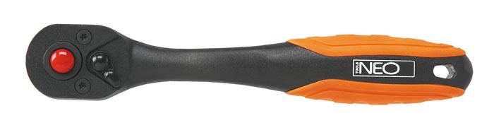 Трещотка Neo, изогнутая, 1/4 08-51408-514Трещотка Neo используется для монтажа/демонтажа различных резьбовых соединений. Корпус трещотки выполнен из композита высокой прочности. Храповик с 72 зубьями.