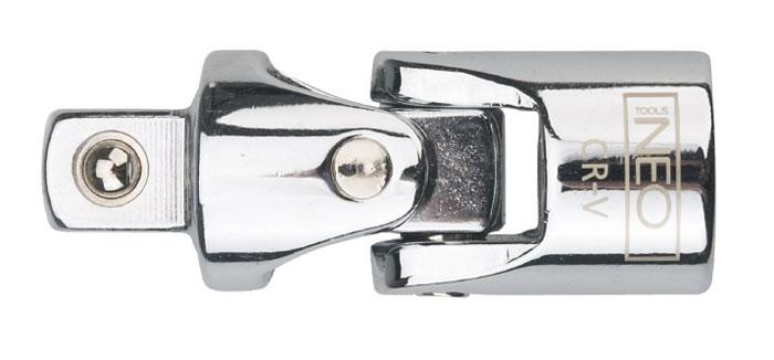 Шарнир карданный Neo 1/208-551Шарнир карданный Neo позволяет менять угол наклона инструмента относительно монтируемой детали. Шарнир имеет присоединительный квадрат с шариковым фиксатором. Шарнир карданный используется при работе с резьбовыми соединениями в труднодоступных местах.