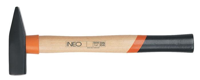 Молоток слесарный Neo, 1000 г25-020Молоток слесарный Neo имеет два разных бойка - один ровный, другой сужающийся и прочную деревянную ручку. Применяется для гибки металла, вбивания гвоздей, осадки шпонок. Острой стороной можно забивать маленькие гвозди.