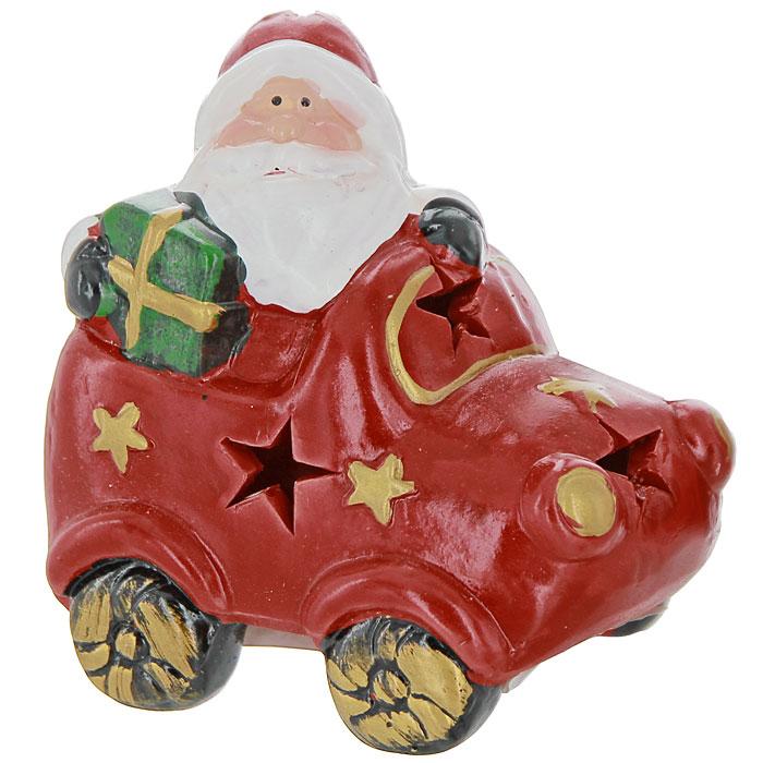 """Феникс-презент Новогодний подсвечник """"Дед Мороз"""", цвет: красный"""