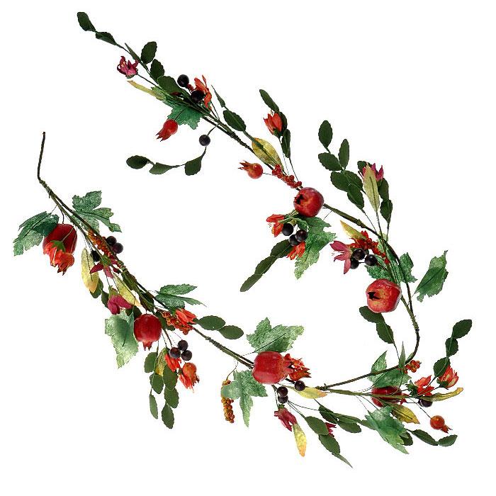 Гирлянда декоративная Гранаты с листьями, цвет: зеленый, красный, длина 130 см5250042Декоративная гирлянда Гранаты с листьями дополнит интерьер любого помещения в преддверии Нового года, а также может стать оригинальным подарком для ваших друзей и близких. Композиция выполнена в виде гирлянды из нескольких гранатов с листьями и цветами. Оформление помещения декоративной гирляндой создаст праздничную, по-настоящему радостную и теплую атмосферу.