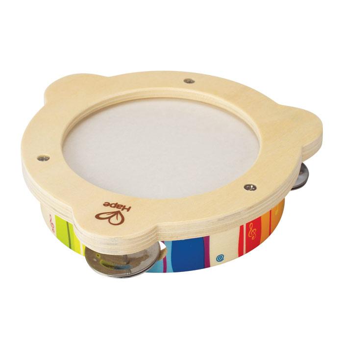 Музыкальная игрушка Hape БубенЕ0304Музыкальная игрушка Hape Бубен - это не просто игрушка, но и прекрасный инструмент для занятий детским музыкальным творчеством. Круглый деревянный каркас оснащен шестью металлическими бубенцами, которые при встряхивании создают характерный звук. Музыкальная игрушка Hape Бубен поможет вашему ребенку развить звуковосприятие, мелкую моторику рук, а также поможет развить чувство такта.